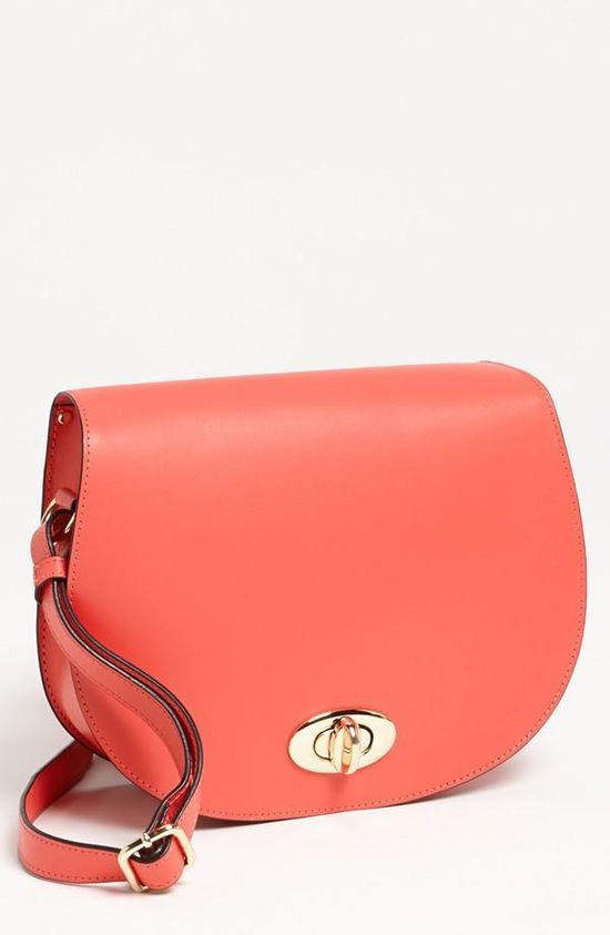 Simple Coral Crossbody Bag