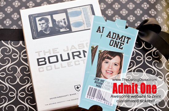 Awesome website to make your own tickets using your pictures!  www.TheDatingDiva... #datenight #freeprintables #thedatingdivas