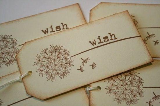 dandelion gift tags