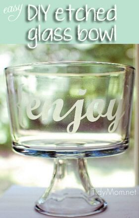 DIY Etched Glass Bowl {Do it Yourself}