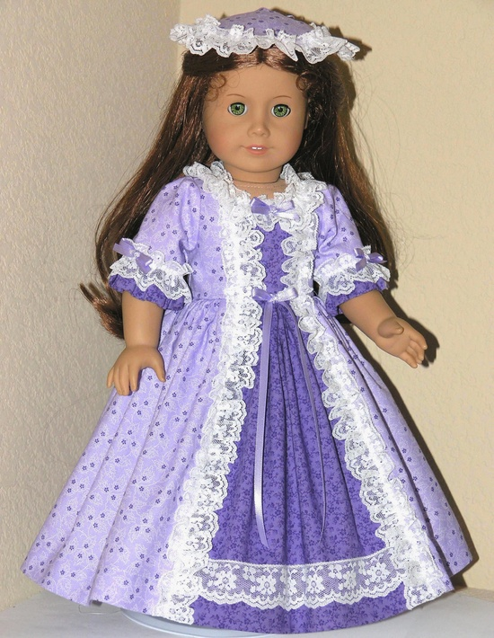 Colonial dress in lavender