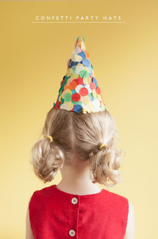 Confetti Party Hats DIY