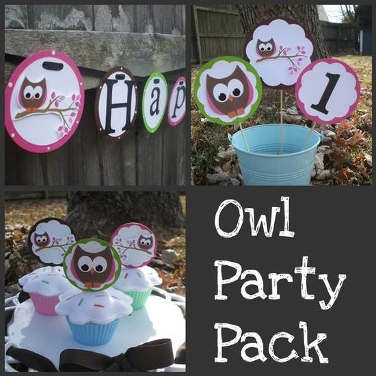 An owl themed party