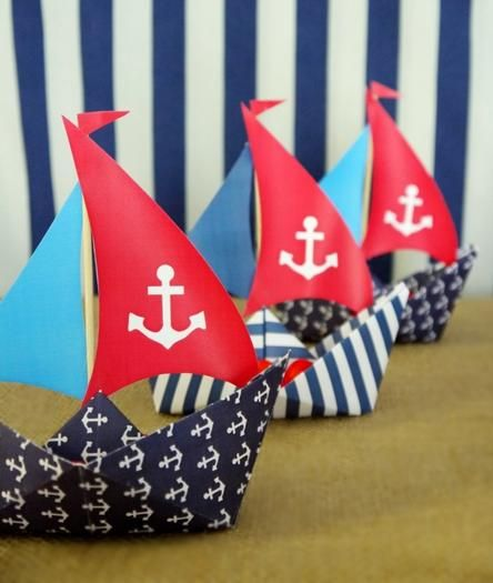 Preppy Nautical Party-love these sailboats