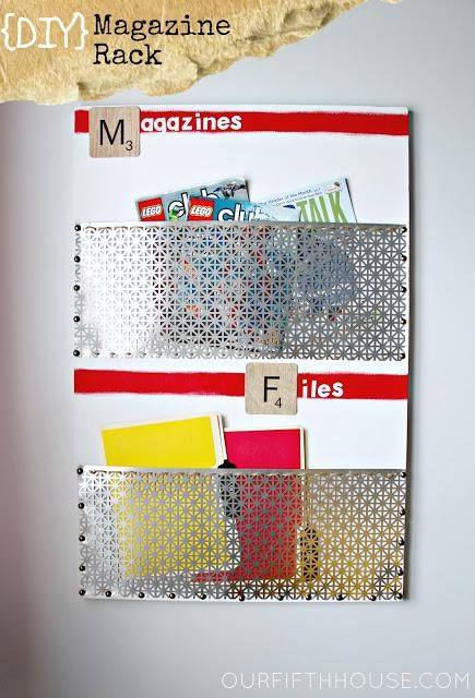 DIY Home Decor: DIY Magazine Rack