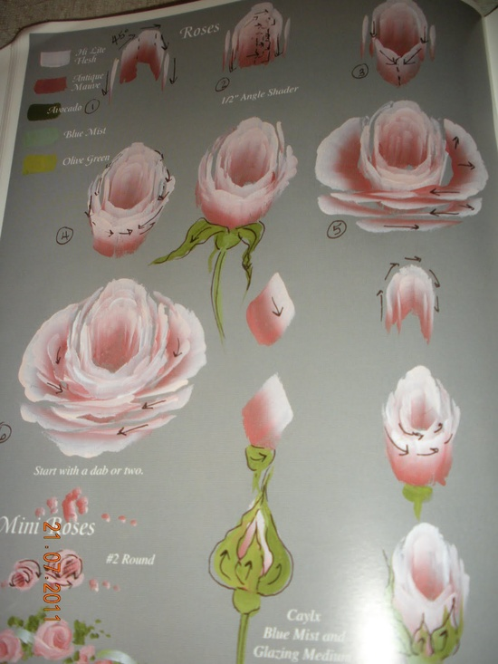 Ros Stallcup - how to paint a rose