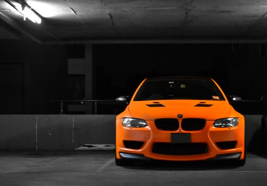 Orange BMW M3