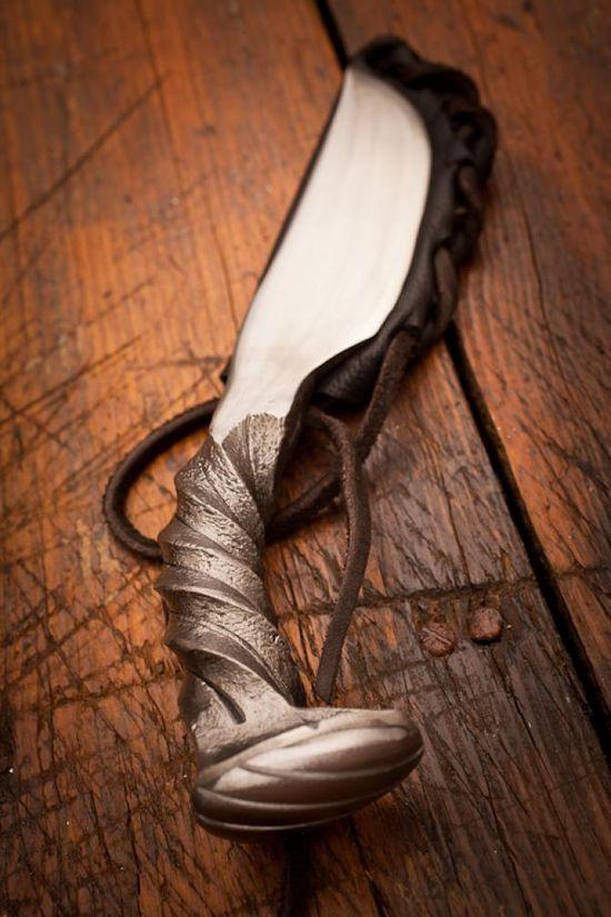 Twist Railroad Spike Handmade Knive by Cinescape Studios for BourbonandBoots.com