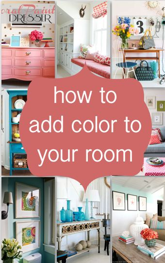 5 Awesome tips on how to add color to any room...