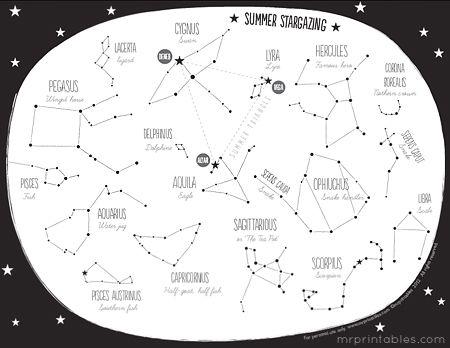 printable constellation map