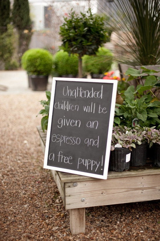 a sign with a bit of tongue-in-cheek humor  Photography by mustardseedphoto.com, Wedding Coordination by tinyboxwoods.com