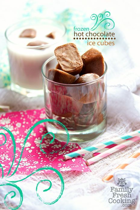 frozen hot chocolate cubes from @MarlaMeridith