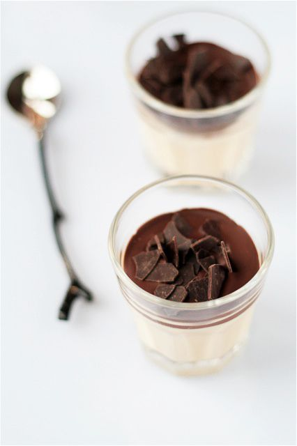 chocolate and vanilla pudding www.piccolielfi.it