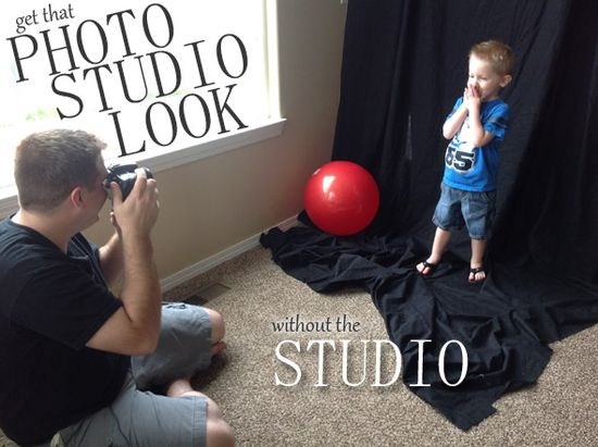 "How to get that ""photo studio look"" without a studio."