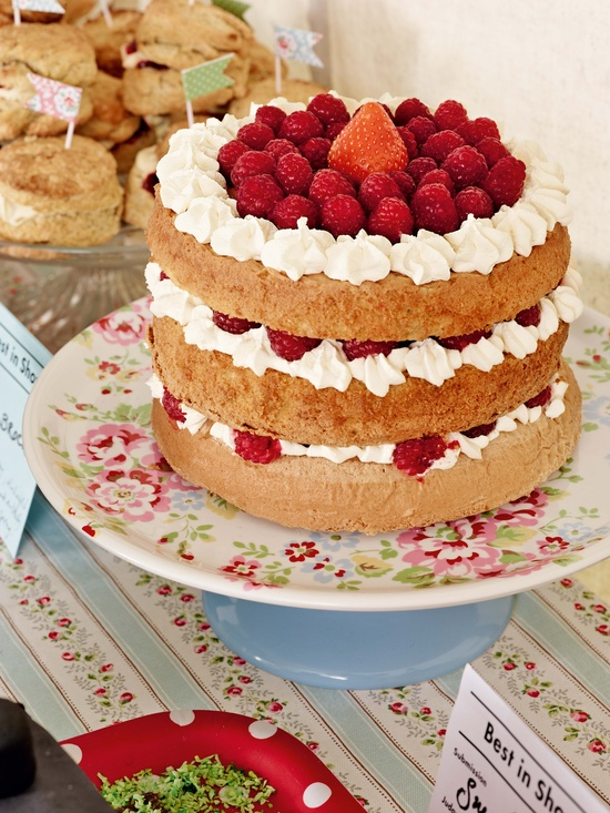 Spray Flowers cake stand. From Cath Kidston's BEST IN SHOW: Spring/Summer 2013 #cathkidston #spring #summer #cakes #bakeoff #baking #lickthespoon