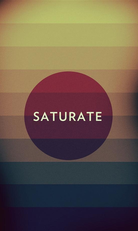 saturate.