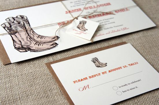 Wild West Wedding Invitations by DawnCorrespondence on Etsy