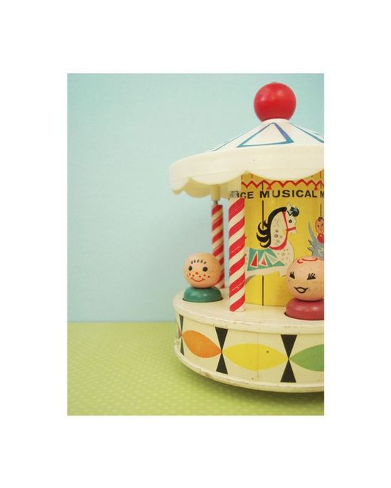 Carousel print #fisher_price #little_people #vintage