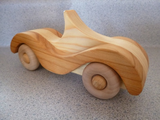Wooden Sports Car by GrampsWoodToys