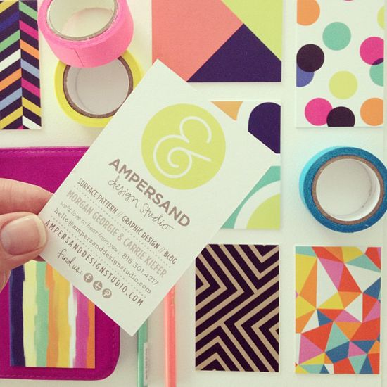 ampersand business cards
