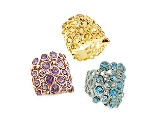 Crystal Band Ring by Sima K.
