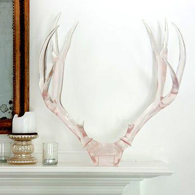 clear deer rack - lucite antlers