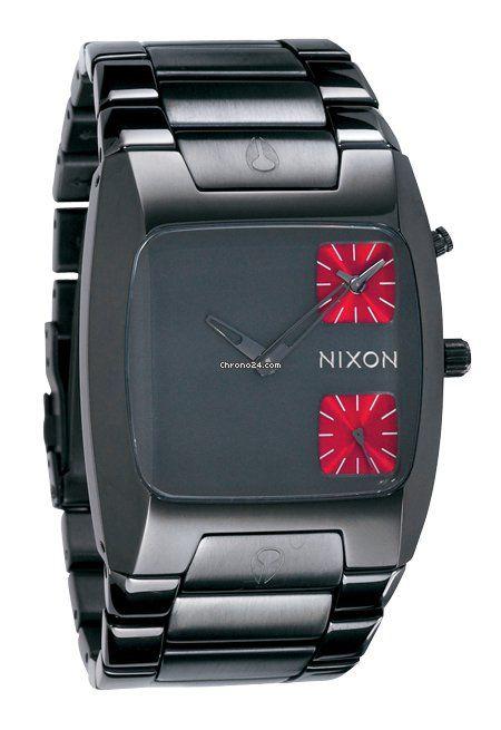 Nixon The Banks Gunmetal Men´s Watch $519 #watch #watches Steel bracelet