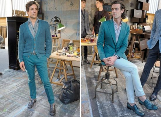 Men's Fashion Trends Spring-Summer 2013 N° 4: The Blue-Green