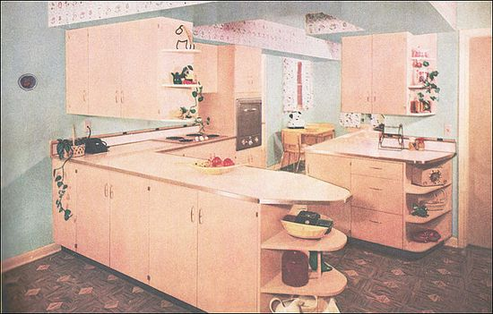 1956 Curtis Woodwork Kitchen by American Vintage Home, via Flickr