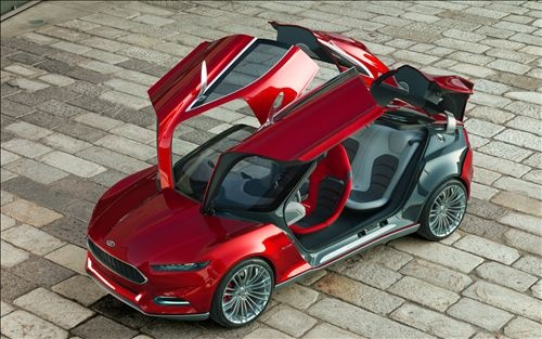 Ford Evos, future car, concept car