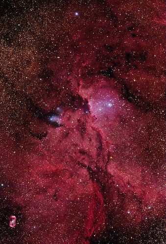 Crimson Flares (NGC 6188)