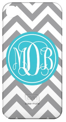 Chevron Monogram Personalized Cell Phone or by LibbieandWinston, $35.00