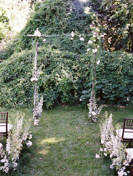 DIY Wildflower Aisle Wedding Ideas