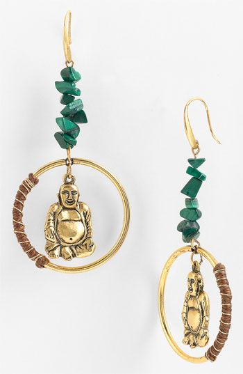 T.R.U. Timeless Rare Unique 'Sitting Buddha' Earrings