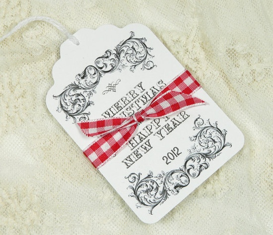 Christmas Gift Tags Vintage Style