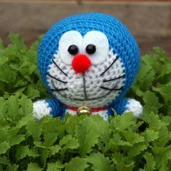Crocheted Amigurumi Doraemon
