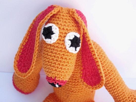 Ugly Cute Bunny Monster - Crochet Animal Toy. $40,00, via Etsy.