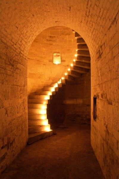 The Granite Staircase at Fort Camden, Cork Harbour. Ireland