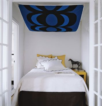 Ideas for small bedrooms: Abstract art canopy, Domino magazine by xJavierx, via Flickr