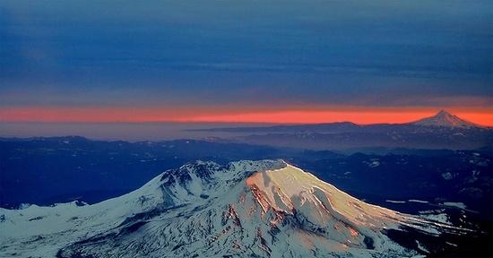 Mt St Helens & Mt Hood