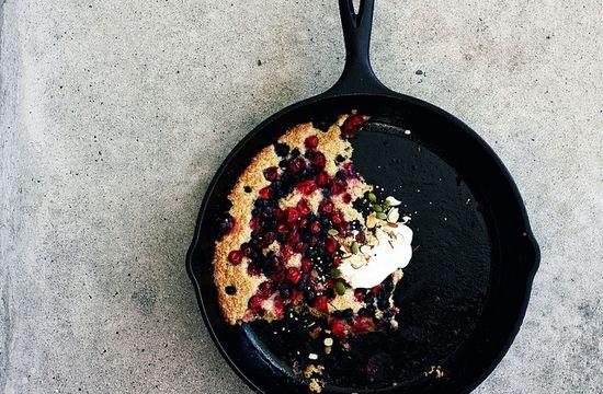 Cranberry Blueberry Breakfast Cobbler.