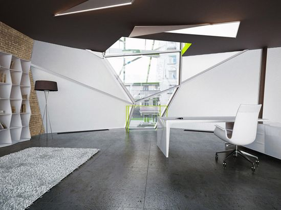Parasite office by za bor architects, Moscow