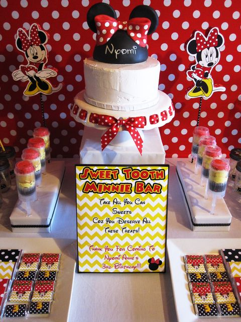"Photo 10 of 35: Minnie Mouse / Birthday ""Nyomi's Minnie Mouse 3rd Birthday Party"""