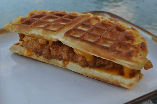 Fried Chicken Waffle Grilled Cheese