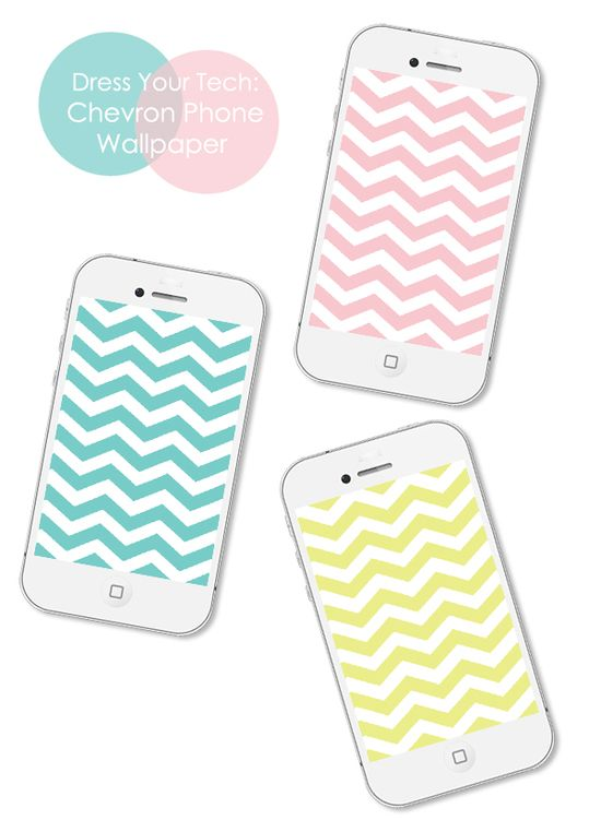 Ok so it's not a printable, but it is a super cute iPhone background! Dress Your Tech: Chevron Phone Wallpaper by ForChicSake.com. Click to download chevron wallpaper for your phone.