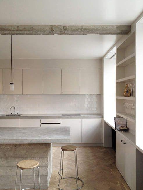 Simple modern white kitchen - desiretoinspire.net - Feilden FowlesArchitects