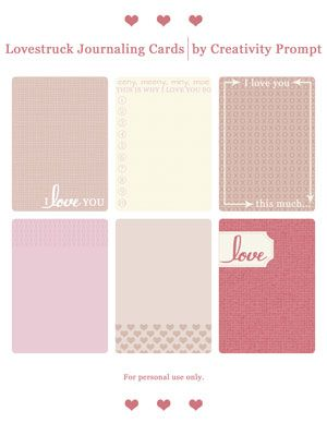 LOVE JOURNAL CARDS
