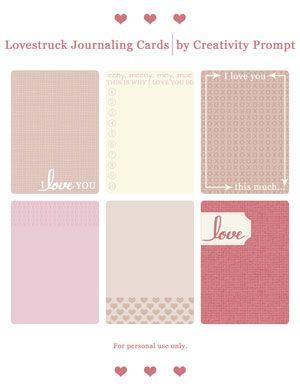 Freebie – Colorful Striped Labels »  Freebie – Lovestruck Journaling Cards #projectlife