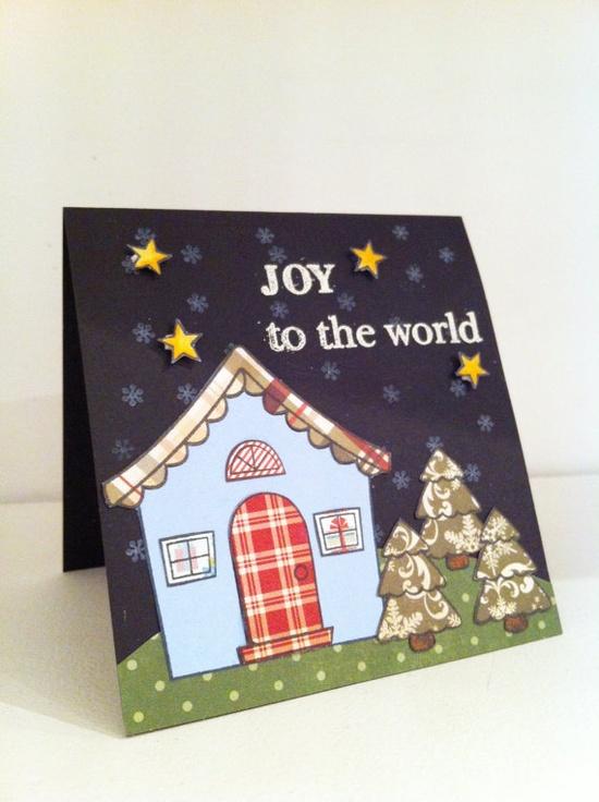 Handmade Christmas Card  Joy to the World by PinkMemoryCards, £2.50