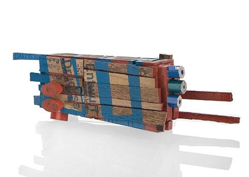 Schnitt für Schritt #13 by Tabea Reulecke; H 4 x W 13 x D 4 cm; Gallery: Galerie Merzee, Photo: Courtesy Galerie Marzee, 2012